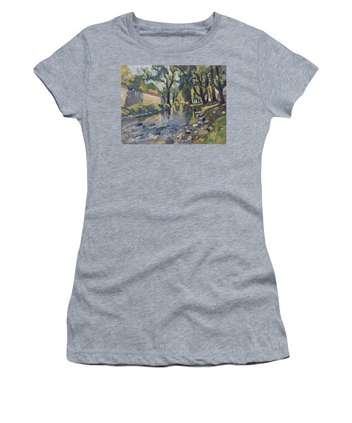 Riverjeker In The Maastricht City Park Women's T-Shirt (Athletic Fit)