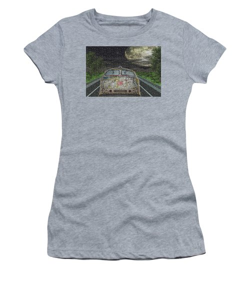 Road Trip In The Rain Women's T-Shirt (Athletic Fit)