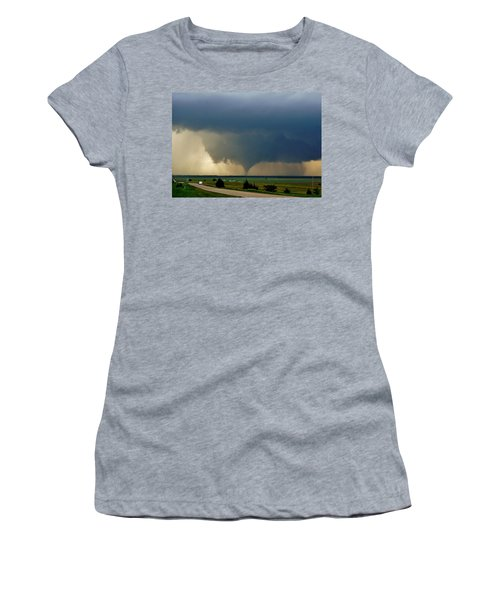Women's T-Shirt (Athletic Fit) featuring the photograph Roadside Twister by Ed Sweeney