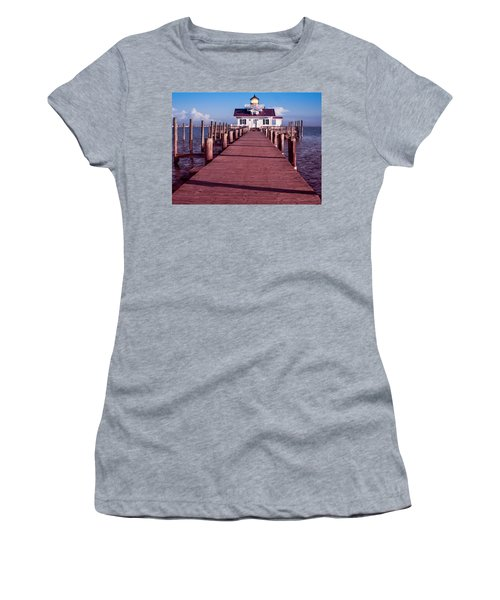 Women's T-Shirt featuring the photograph Roanoke Marshes Lighthouse by Penny Lisowski