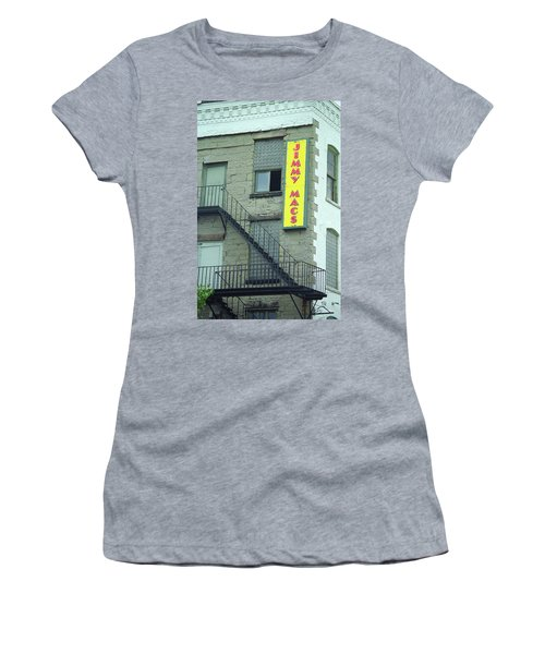Women's T-Shirt (Junior Cut) featuring the photograph Rochester, New York - Jimmy Mac's Bar 2 by Frank Romeo