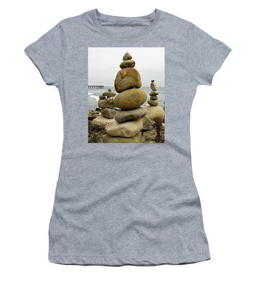 Rock Art Women's T-Shirt (Athletic Fit)