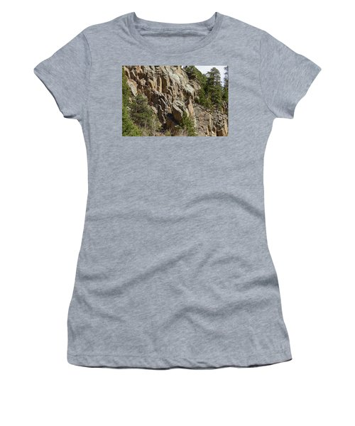 Women's T-Shirt (Junior Cut) featuring the photograph Rock Climbers Paradise by James BO Insogna