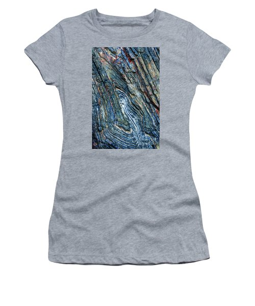 Women's T-Shirt (Athletic Fit) featuring the photograph Rock Pattern Sc03 by Werner Padarin