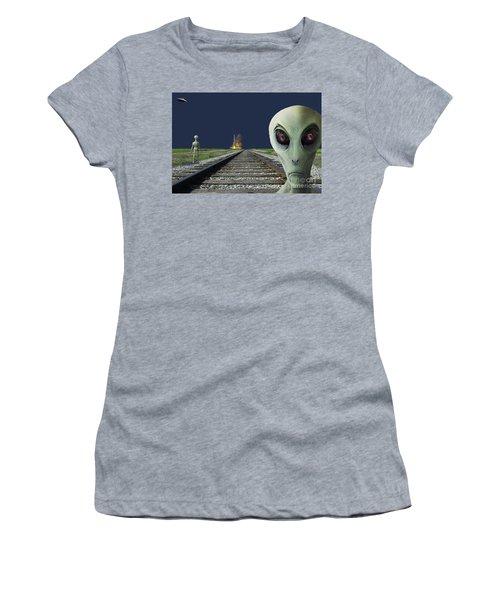 Rocket Launch Women's T-Shirt (Athletic Fit)