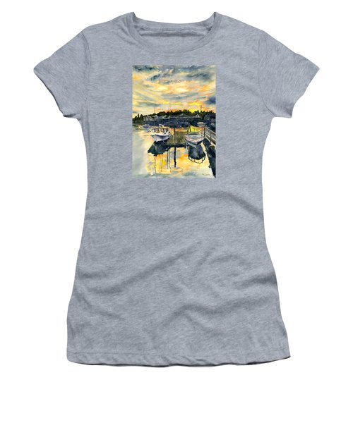 Rocktide Sunset Women's T-Shirt (Junior Cut) by Melly Terpening