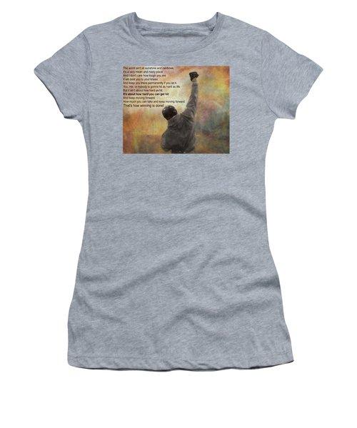 Rocky Balboa Inspirational Quote Women's T-Shirt