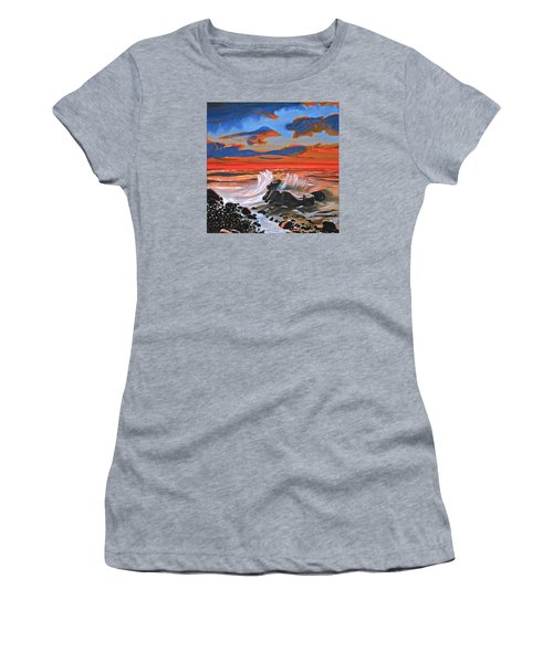 Rocky Cove Women's T-Shirt (Junior Cut) by Donna Blossom