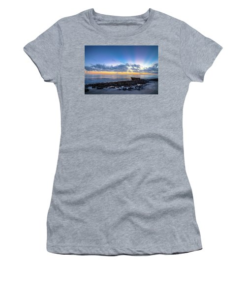 Women's T-Shirt (Junior Cut) featuring the photograph Rocky Reef At Low Tide by Debra and Dave Vanderlaan