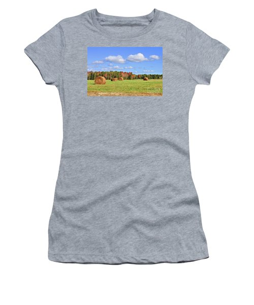 Rolls Of Hay On A Beautiful Day Women's T-Shirt (Athletic Fit)