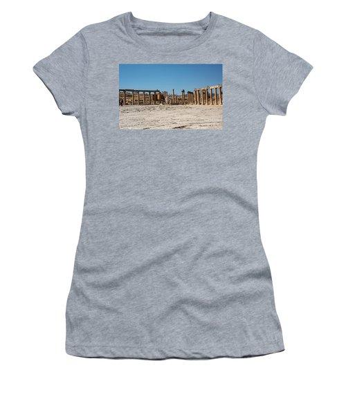 Women's T-Shirt featuring the photograph Roman Ruins At Ajloun by Mae Wertz