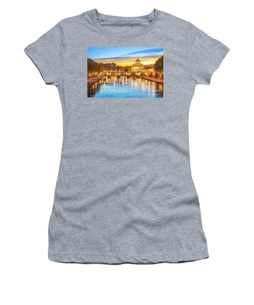 Rome At Twilight Women's T-Shirt (Athletic Fit)