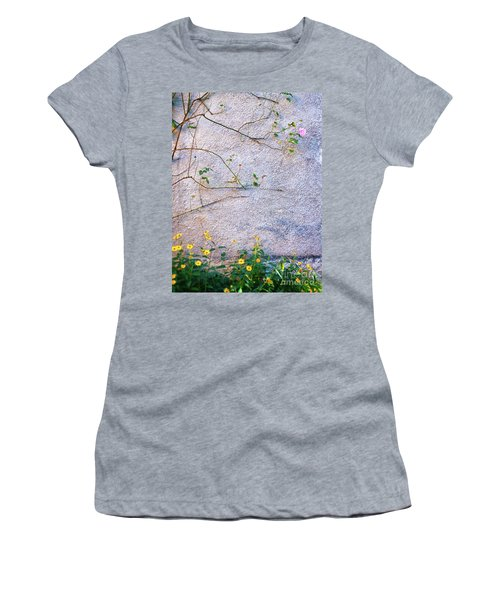 Women's T-Shirt (Athletic Fit) featuring the photograph Rose And Yellow Flowers by Silvia Ganora