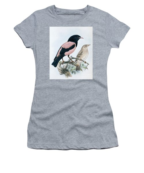 Rose Colored Starling Women's T-Shirt (Athletic Fit)