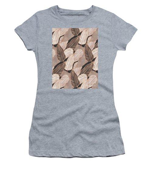 Rose Gold Jungle Leaves Women's T-Shirt