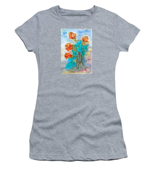 Roses Buds Women's T-Shirt (Athletic Fit)
