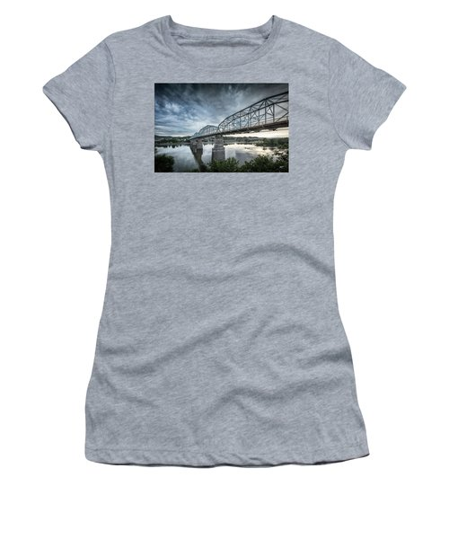 Rowing Under Walnut Street Women's T-Shirt (Athletic Fit)