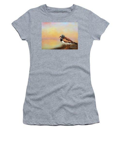 Ruddy Turnstone Women's T-Shirt (Junior Cut) by Suzanne Handel