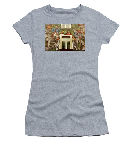 Women's T-Shirt (Junior Cut) featuring the photograph Rudesheim Mural by KG Thienemann
