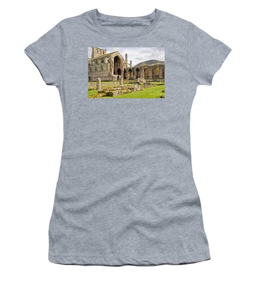 Ruins. Melrose Abbey. Women's T-Shirt