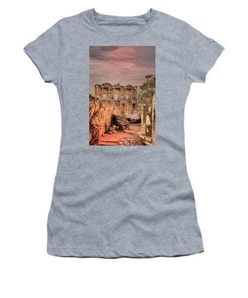 Ruins Of Ephesus Women's T-Shirt (Junior Cut) by Tom Prendergast