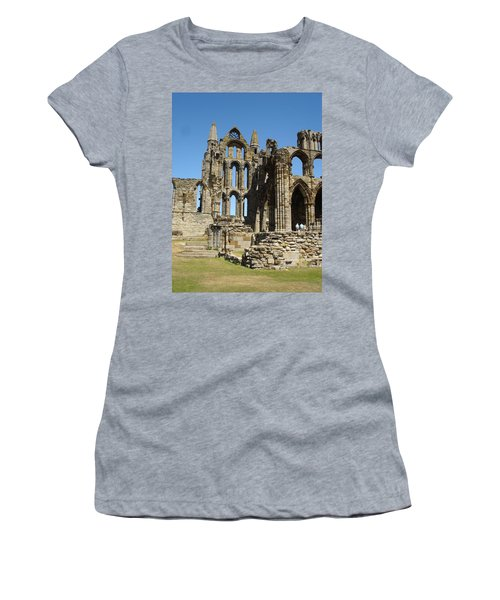 Ruins Of Whitby Abbey Women's T-Shirt (Athletic Fit)