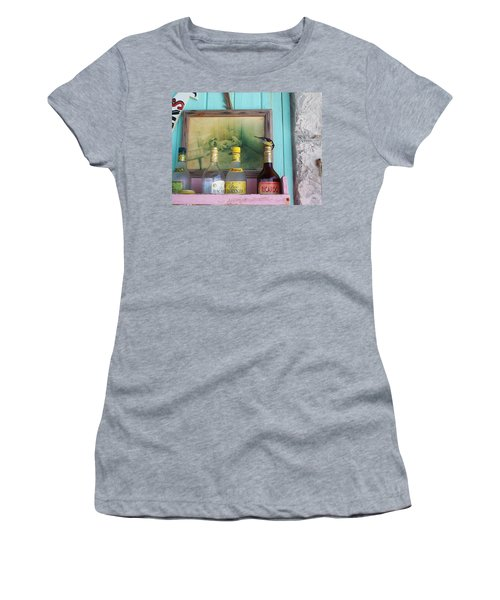 Women's T-Shirt (Junior Cut) featuring the photograph Rum Shack Bananaquit by Mary-Lee Sanders