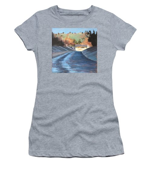 Running The Arroyo, Wet Women's T-Shirt (Athletic Fit)