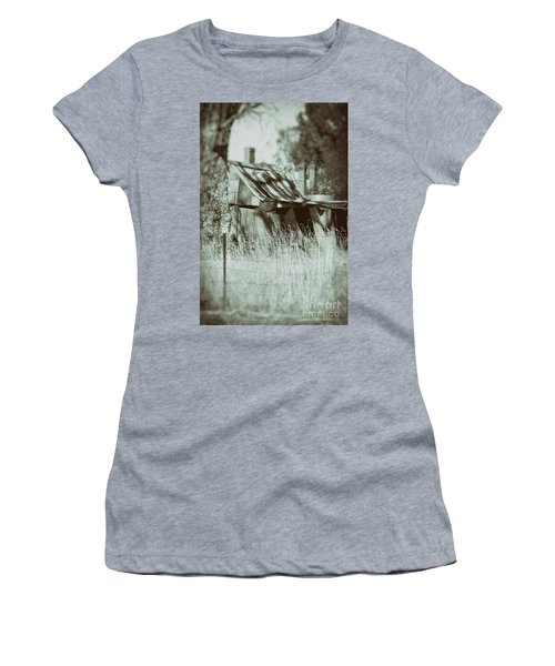 Women's T-Shirt (Athletic Fit) featuring the photograph Rural Reminiscence by Linda Lees