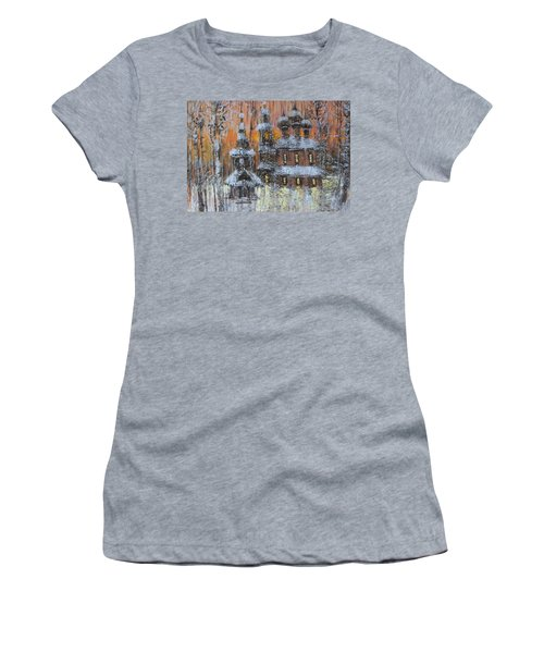 Russian Church Under Snow Women's T-Shirt