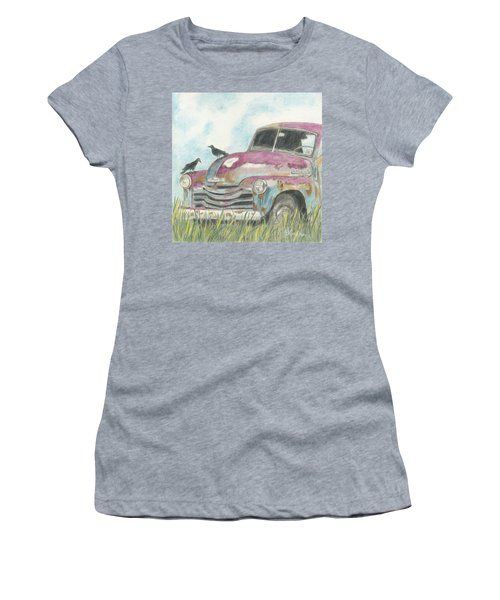 Women's T-Shirt (Junior Cut) featuring the drawing Rust In Peace by Arlene Crafton