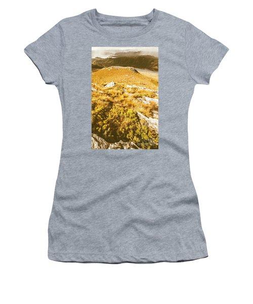 Rustic Mountain Terrain Women's T-Shirt