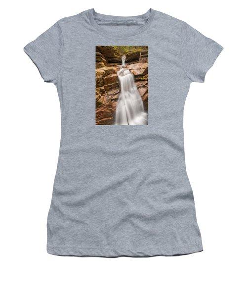Sabbaday Falls Women's T-Shirt (Junior Cut) by Brenda Jacobs