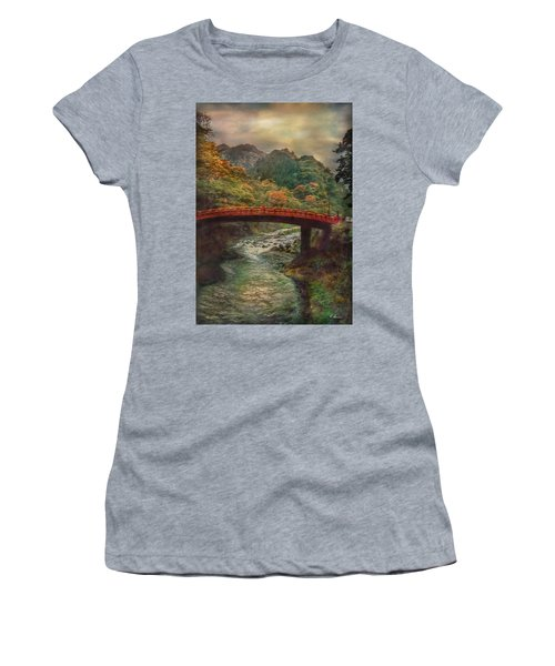 Women's T-Shirt (Athletic Fit) featuring the photograph Sacred Bridge by Hanny Heim