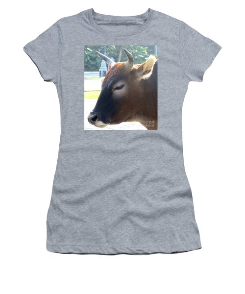 Women's T-Shirt (Junior Cut) featuring the photograph Sacred Cow 4 by Randall Weidner