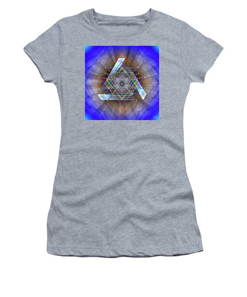 Women's T-Shirt (Athletic Fit) featuring the digital art Sacred Geometry 717 by Endre Balogh