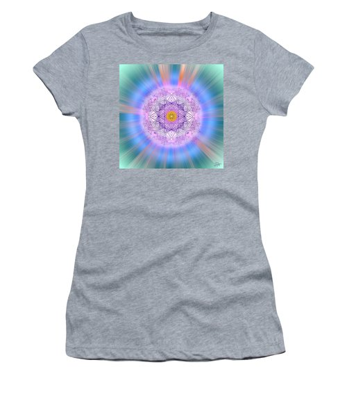 Women's T-Shirt (Athletic Fit) featuring the digital art Sacred Geometry 720 by Endre Balogh