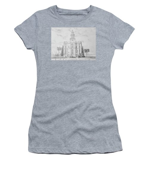 Sacred Steps - St. George Temple Women's T-Shirt (Athletic Fit)
