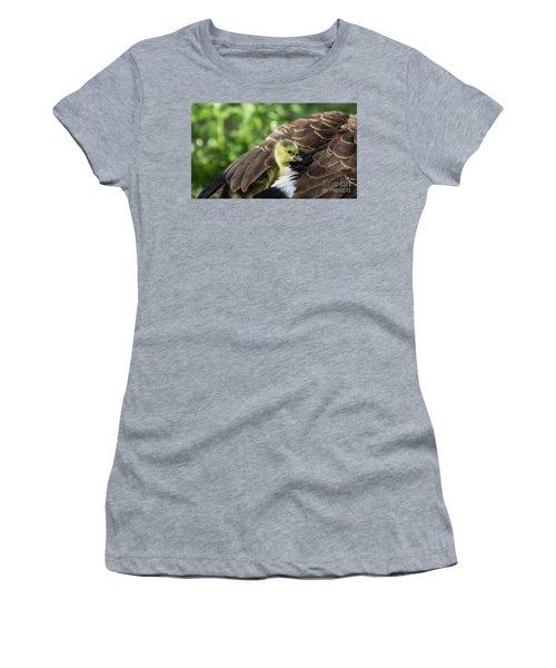 Safe Place Women's T-Shirt (Junior Cut) by Eva Lechner