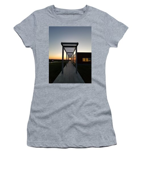 Women's T-Shirt (Athletic Fit) featuring the photograph Sag Harbor Sunset by Rob Hans