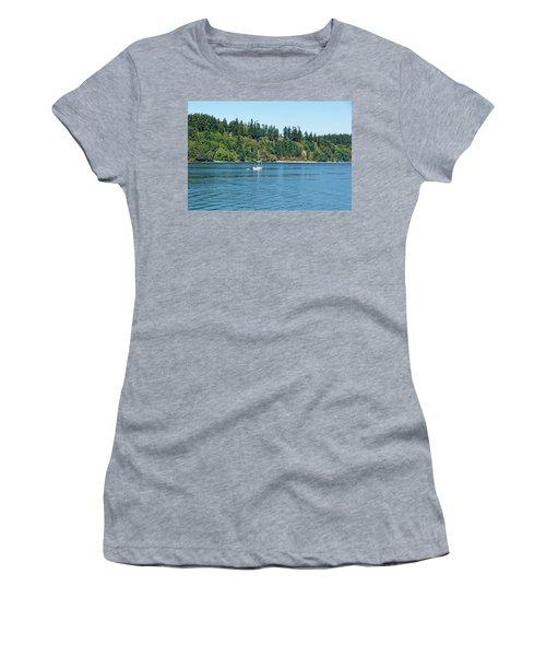 Sailboat Near San Juan Islands Women's T-Shirt