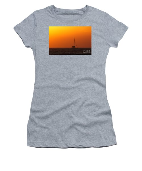 Women's T-Shirt featuring the photograph Sailboat Waiting by Jeremy Hayden