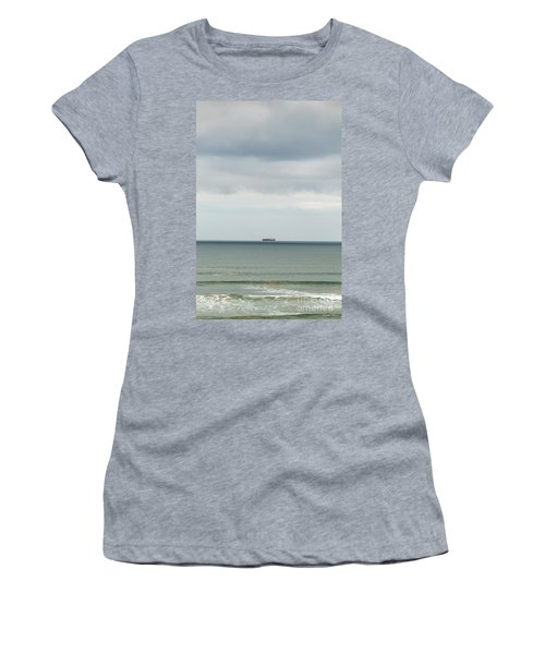 Women's T-Shirt (Athletic Fit) featuring the photograph Sailing The Horizon by Linda Lees