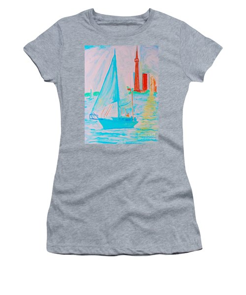 Sailing Toronto, Canada Women's T-Shirt (Athletic Fit)