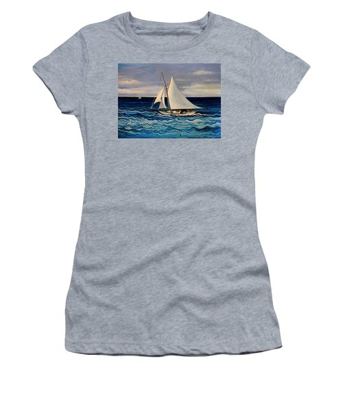 Sailing With The Waves Women's T-Shirt