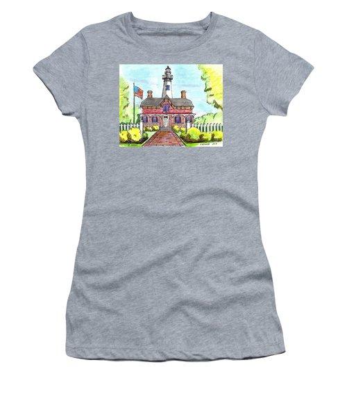 Saint Simons Lighthouse Women's T-Shirt (Athletic Fit)