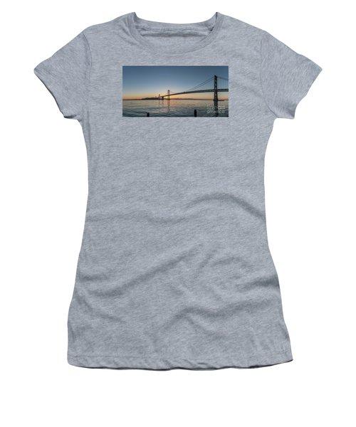 San Francisco Bay Brdige Just Before Sunrise Women's T-Shirt