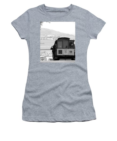 San Francisco Cable Car With Alcatraz Women's T-Shirt