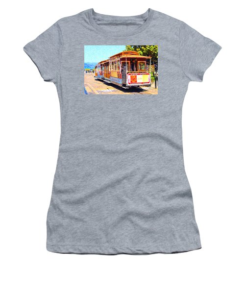 San Francisco Cablecar At Fishermans Wharf . 7d14097 Women's T-Shirt
