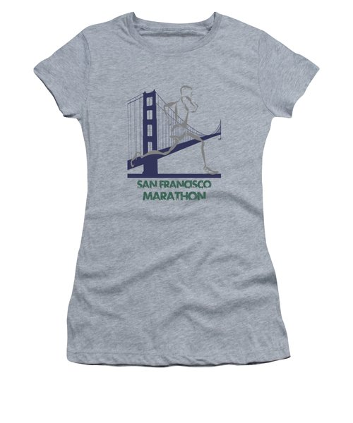 San Francisco Marathon2 Women's T-Shirt (Junior Cut) by Joe Hamilton
